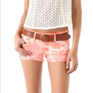 AG Coral Tie Dye Shorts